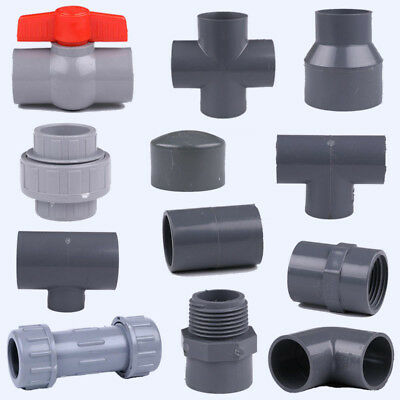 UPVC 32mm/50mm Pipe Fittings Pipe Joiner Connectors End Caps Tee Elbow Adapter