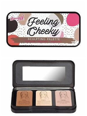 Barry M Feeling Cheeky Sculpting Trio Blush/highlighter Tin