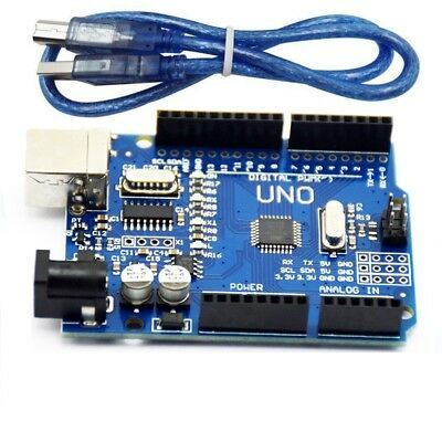 UNO R3 ATmega328P ATMEGA16U2 Development Board USB Cable For Arduino Compatible