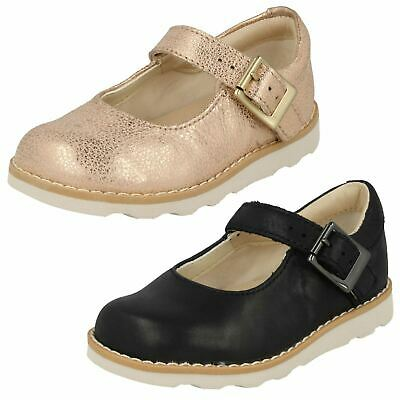 Girls Clarks Crown Honor Toddler Buckle Casual Kids Mary Jane Infant Shoes Size