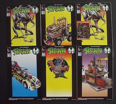 SPAWN 1 TOY PROMO COMICS X 6...VF/NM-...1994...McFarlane...Scarce Bargain!