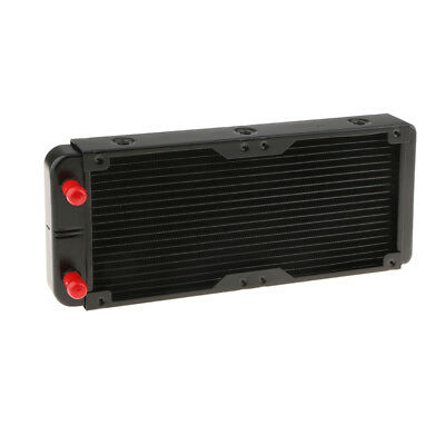 240mm Aluminum Exchanger Computer Radiator Water Cooling System 18 Tubes