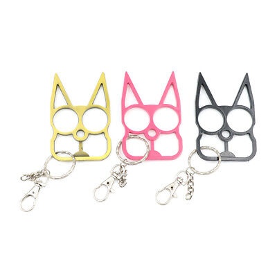 Fashion Cat Key Chain Personal Safety Supply Metal Security KeyringsWR2