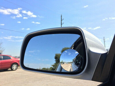 2pc Car Rearview Blind Spot Side Rear View Mirror Convex Wide Angle Adjustable