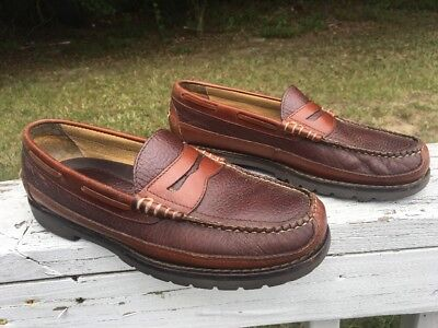 0065fb9903e LL BEAN mens penny loafers Allagash Bison Hand sewn penny loafers size 9.5 D