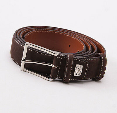 New in Box VERSACE COLLECTION Brown Leather Belt Size 48 Cut To Size $295