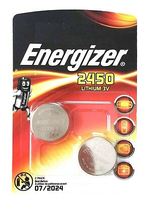 2 x ENERGIZER 2450 CR2450 3V lithium coin cell DL2450 ECR2450 V2450