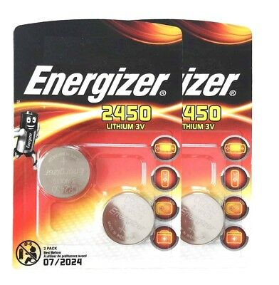 4 x ENERGIZER 2450 CR2450 3V lithium coin cell DL2450 ECR2450 V2450