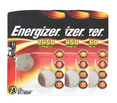 6 x ENERGIZER 2450 CR2450 3V lithium coin cell DL2450 ECR2450 V2450