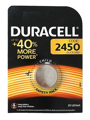 1 x Duracell CR2450 DL2450 3V Lithium Coin Cell Battery Long Lasting