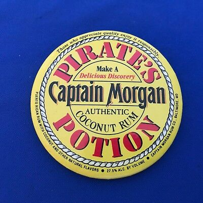 Captain Morgan Pirate's Potion Coconut Rum Pinback Button