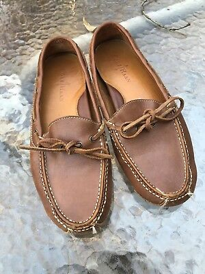 c1e37018019 Mens Cole Haan Gunnison Brown Leather Shoes Loafers Driving Moccasins 8 M