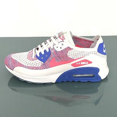 e4df35bf03 WOMEN'S NIKE AIR MAX 90 ULTRA 2.0 FLYKNIT WHITE/RACER PINK 881109 103 Size  8.5
