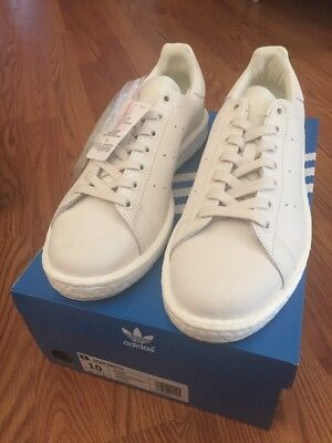 the best attitude cf1a7 fed51 Adidas Originals Stan Smith Boost Men Shades of White size 10 NEW NIB SNS