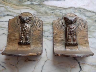 Vintage OWL Book-Ends (Art Nouveau) Heavy Brass Bookends  **Special** (OW20181)