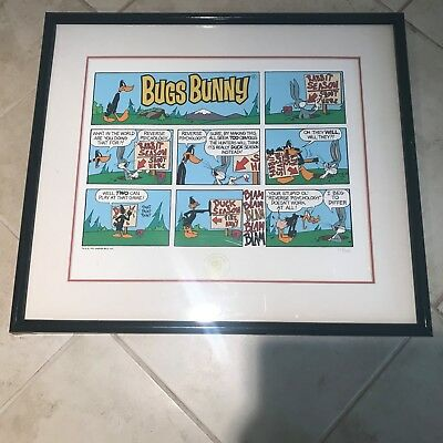 """Bugs Bunny & Daffy Duck """"Reverse Psychology """" Limited Edition Serigraph Print"""