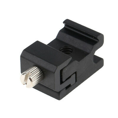 Black Metal Cold Shoe Flash Stand Adapter with 1/4 inch -20 Tripod Screw