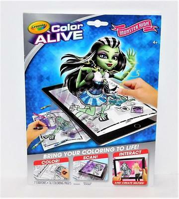 NEW CRAYOLA Color Alive MONSTER HIGH Action Coloring