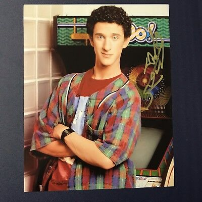 DUSTIN DIAMOND SIGNED 8x10 PHOTO AUTOGRAPHED ACTOR SAVED BY THE BELL SCREECH COA