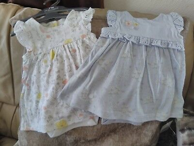 MOTHERCARE 2 pack  Baby Girls Dress up to 1 Months  New