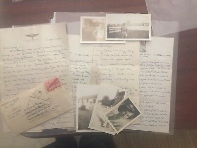 WW2 WWII Letters 8th Air Force B-17 Bomber Pilot Killed In Action
