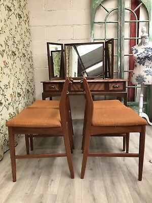 Mid Century Danish Vintage Teak Retro Dining Chairs Set of 4 Delivery Available