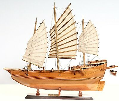"""Exquisite Highly Detailed Chinese Junk 27"""" L X 7"""" W X 24.5"""" Tall"""