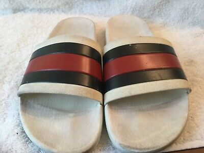 b4a75851bb6ae AUTHENTIC MEN GUCCI Rubber Slides Sandals Flip Flops Shoes -  45.00 ...