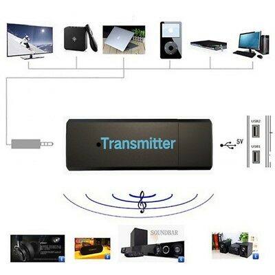 USB Bluetooth Wireless Stereo Audio Music Transmitter For TV MP3 PC Laptop. 0137