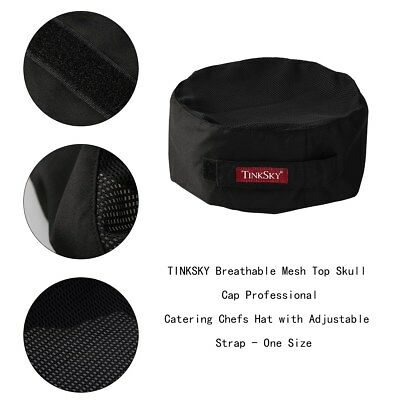 Pro Breathable Mesh Top Hat Catering Baker Kitchen Adjustable Cook Chef Cap