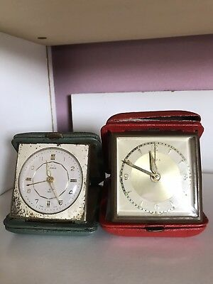 Two Small Old Alarm Clocks (Not Working)