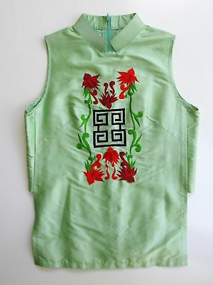 Tunic Top Chinese Silk Embroidered  M