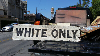 Vintage wooden Institutional Sign - Black Americana collectible?/1950s?