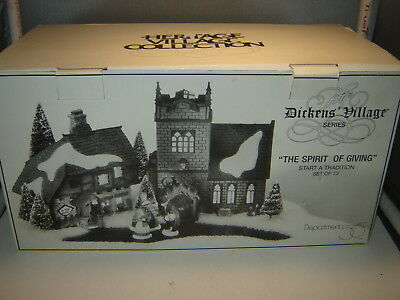 Dept 56 Dickens Village - The Spirit Of Giving - Start a Tradition - Set of 13