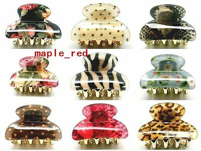 Wholesale lot of 10 mixed pattern Hair Jaw Claws Clips HF-mix1