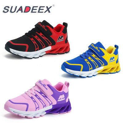 SUADEEX Girls Boys Sport Breathable Running Shoes Lace Up Comfortable Sneakers