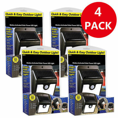 4PCS Ever Brite Led Outdoor Light-AS ON TV Everbrite Solar Powered & Wireless