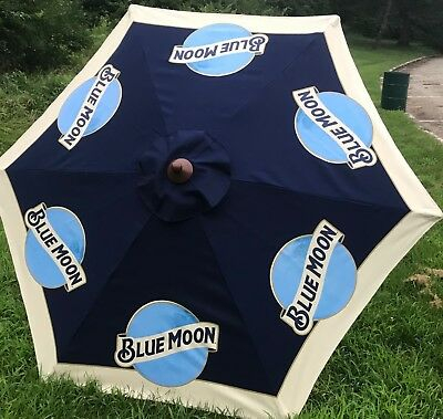 Blue Moon Beer Patio Market Umbrella BRAND NEW