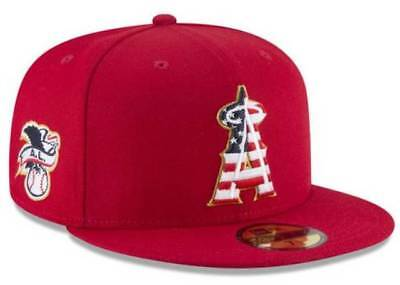 online store 0509f 49897 Official MLB 2018 Los Angeles Angels July 4th New Era 59FIFTY Fitted Hat