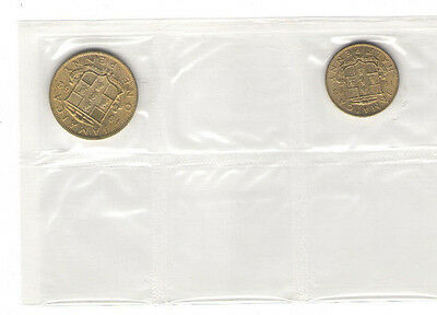 1962-1963 Jamaica Penny and Half Penny KM#36 & 37 Brilliant Uncirculated