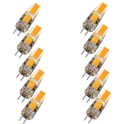 10X G4 6W LED Light Bulb Dimmable COB EPISTAR Replace Halogen Lamp AC DC 12V
