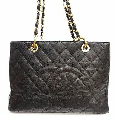 c08d4e7fd6cd Authentic Chanel Black Caviar Quilted Leather Gst Grand Shopping Tote Bag #2
