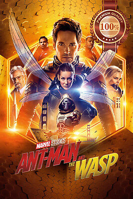 New Ant-Man And The Wasp Gold Official Cinema Movie Film Print Premium Poster