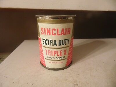 Vintage Advertising Sinclair Extra Duty Triple X Oil Can Bank Estate Find