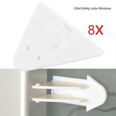 8 x Baby Child Toddler Home Safety Lock Limit Protect Glass Sliding Door Window