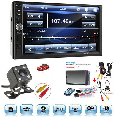 7inch 2DIN Car MP5 Player Bluetooth Touch Screen Stereo Radio HD+Rear Camera A++