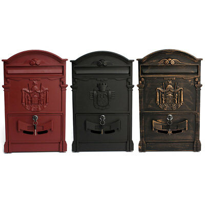 Mail Box Heavy Duty Letter Mailbox Postal Lockable Secure Mail Letter Wall Mount