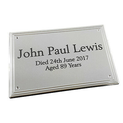 Engraved Plate For Casket Urn Funeral Cremation Burial Gold/Silver