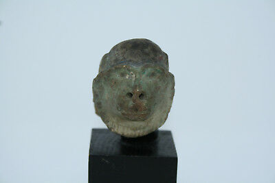 ANCIENT EGYPTIAN HEAD OF A BABOON 12th DYNASTY Thoth Crowley
