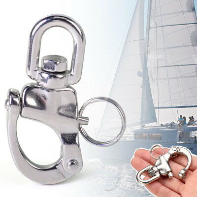 Quick Release 316 Stainless Steel Boat Anchor Chain Eye Shackle Swivel Snap Hook